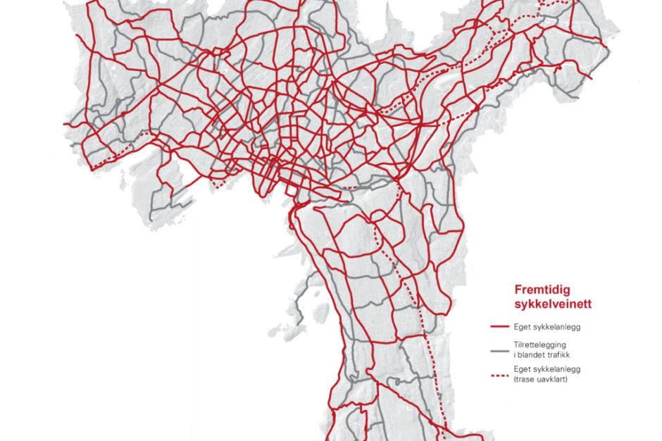 sykkelveier oslo kart Ny ambisiøs sykkelplan vedtatt i Oslo — Syklistene sykkelveier oslo kart