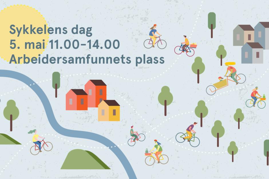 sykkelens dag-illustrasjon