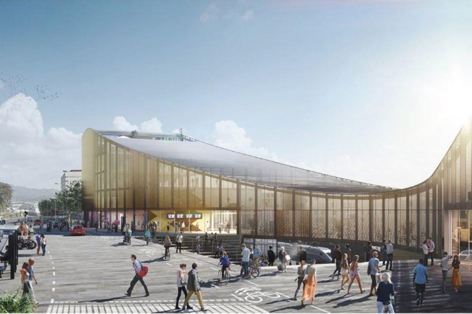 Utbygging Paradis stasjon. Ghilardi + Hellsten arkitekter.