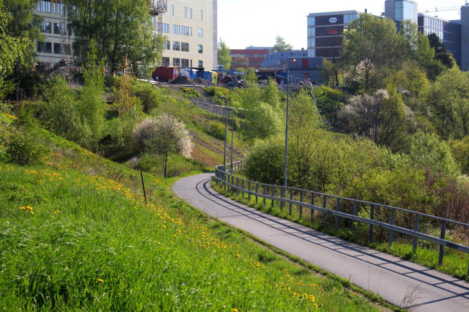 Turveien mellom Alnaelva og Etterstad