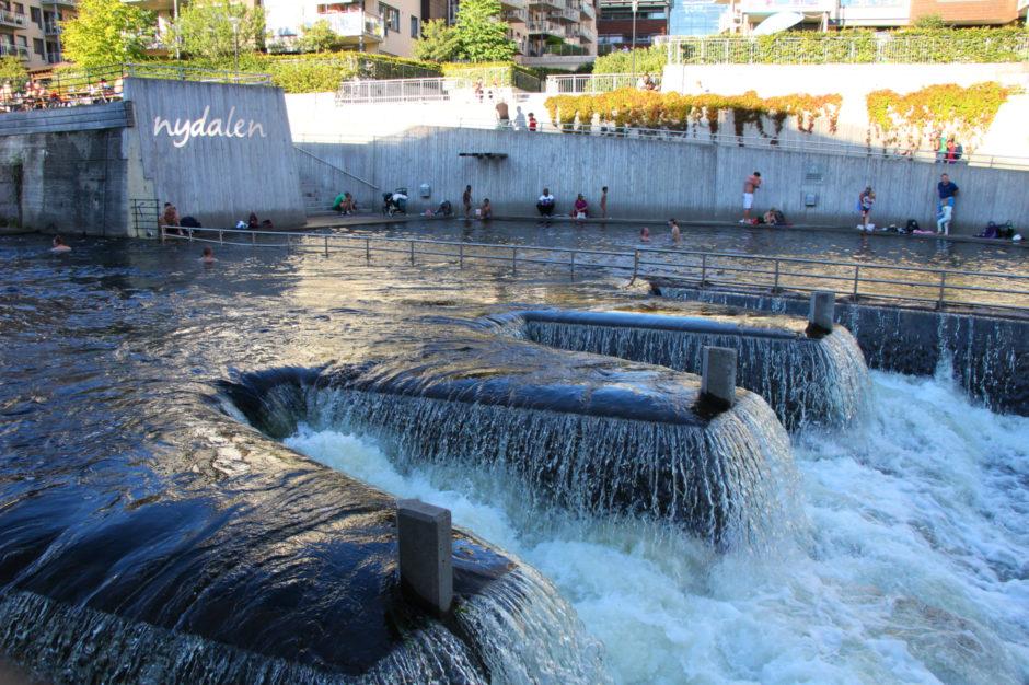 Badeplass på Nydalen