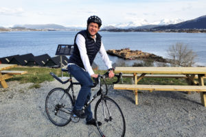 Pierre Major på sykkel