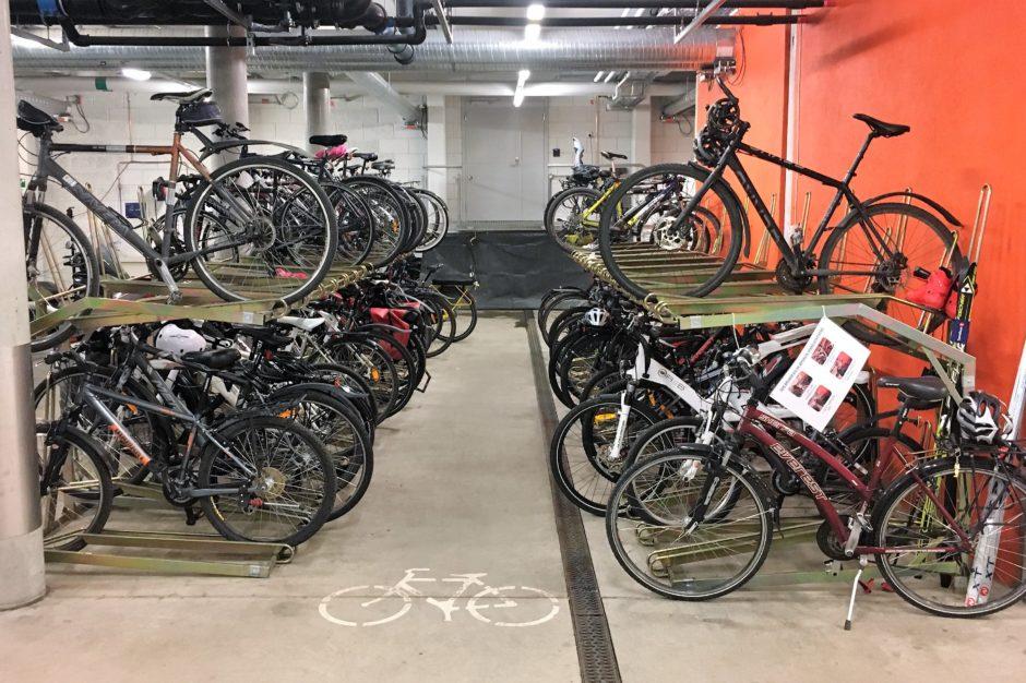 Sykkelparkeringen i Oslo rådhus
